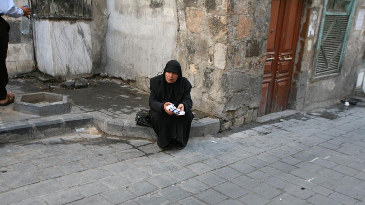 Pouliční prodej v Damašku