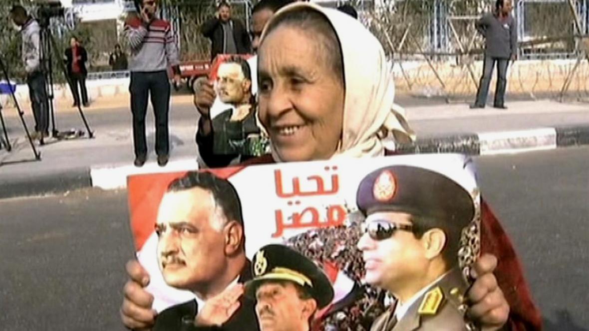 Protesty před egyptským soudem