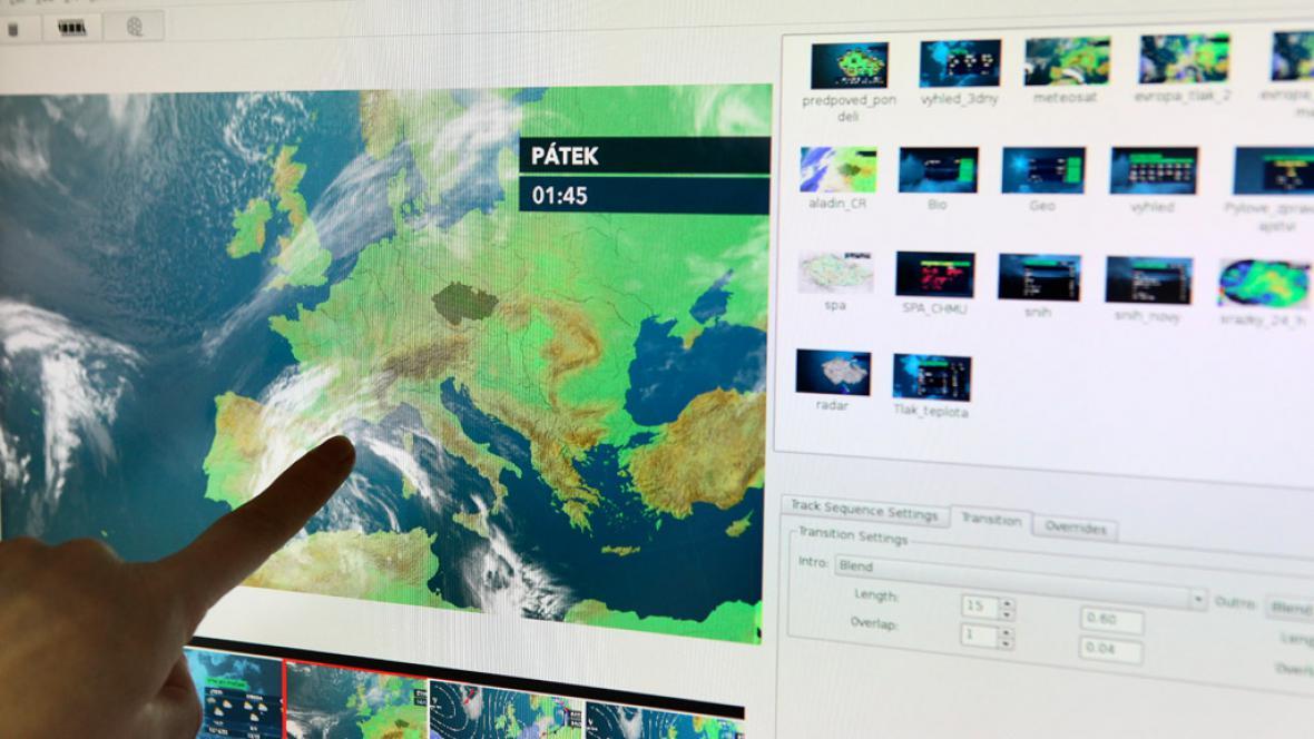 Příprava meteorologické relace
