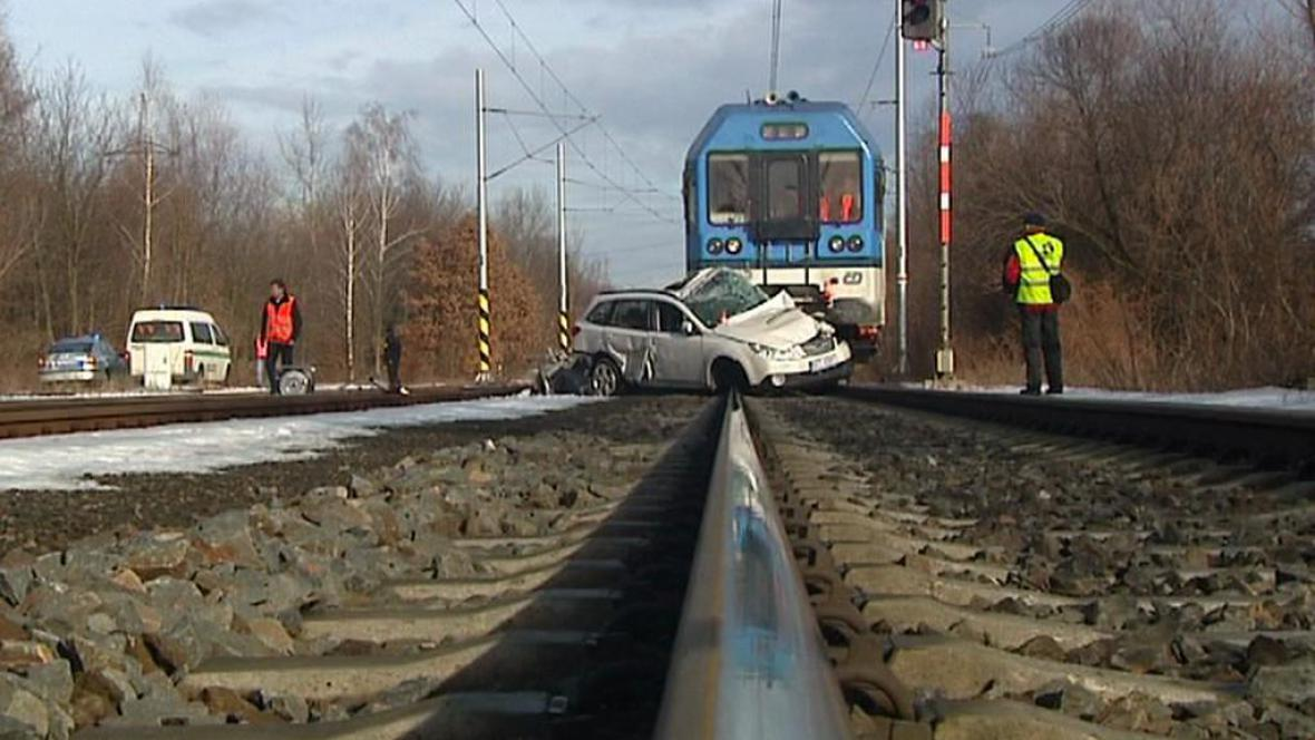 Srážka vlaku s autem