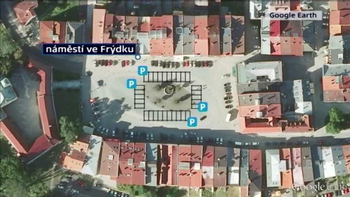 Změna parkování na náměstí ve Frýdku