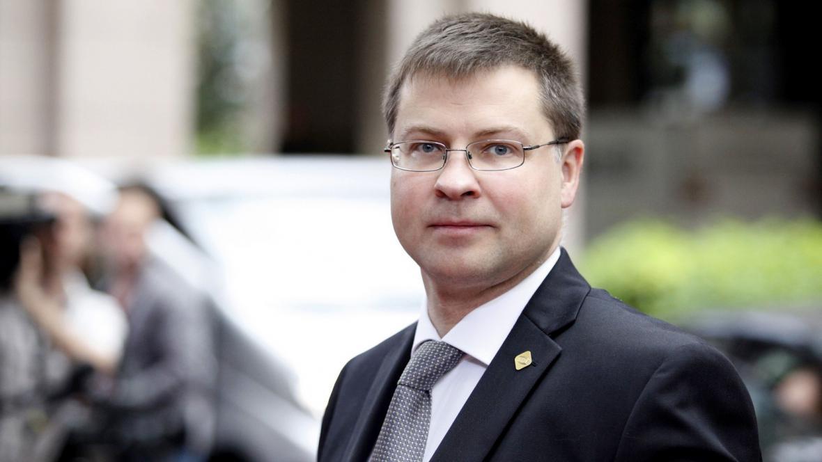 Lotyšský premiér Valdis Dombrovskis