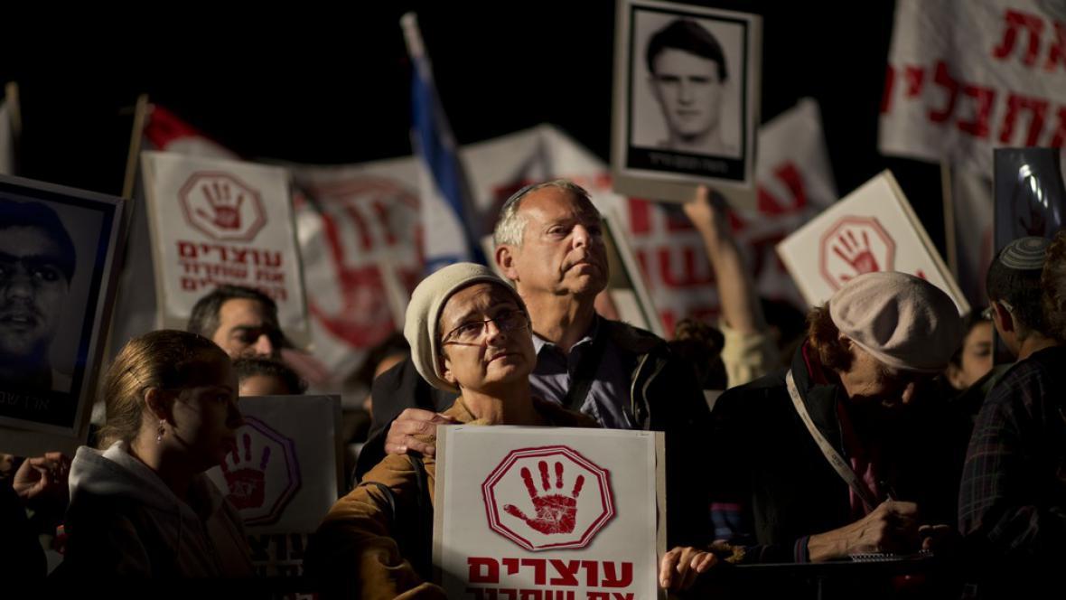 Protest Izraelců
