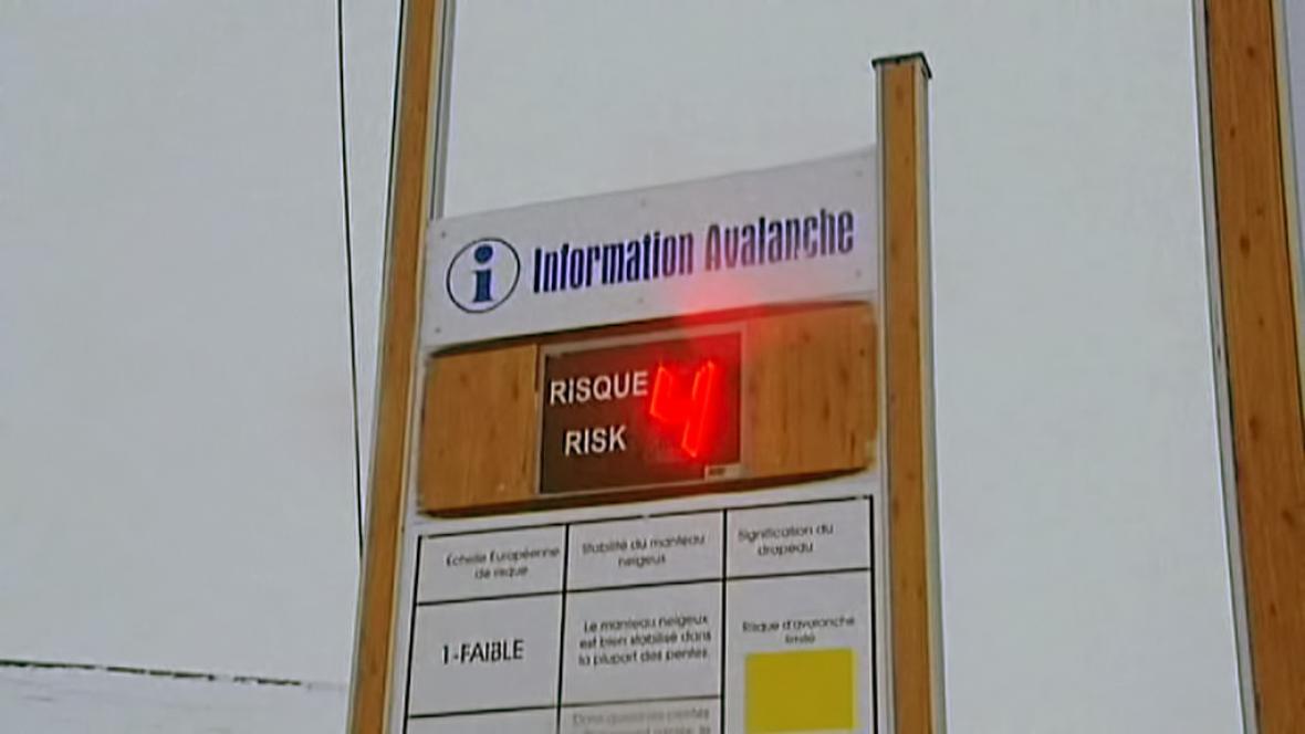 Lavinové nebezepečí v Alpách