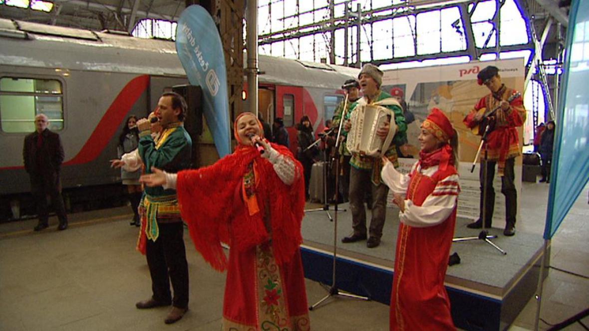 V Praze oslavili otevření nového spoje Praha–Moskva tradičně