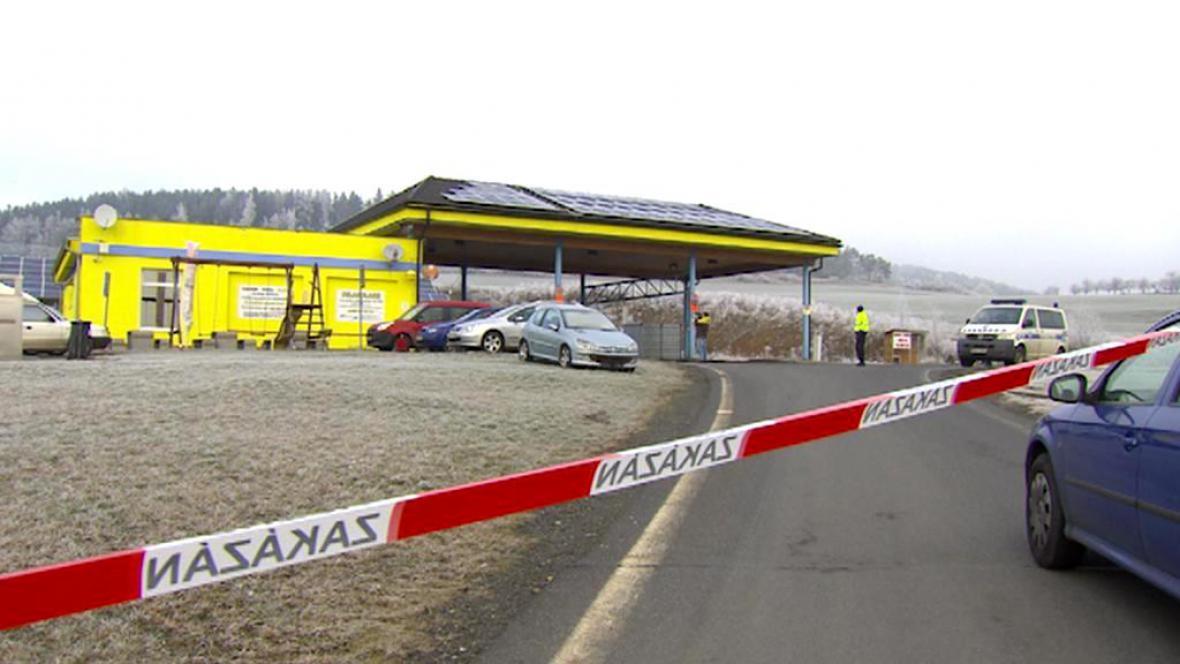 Uzavřená čerpací stanice na Prachaticku