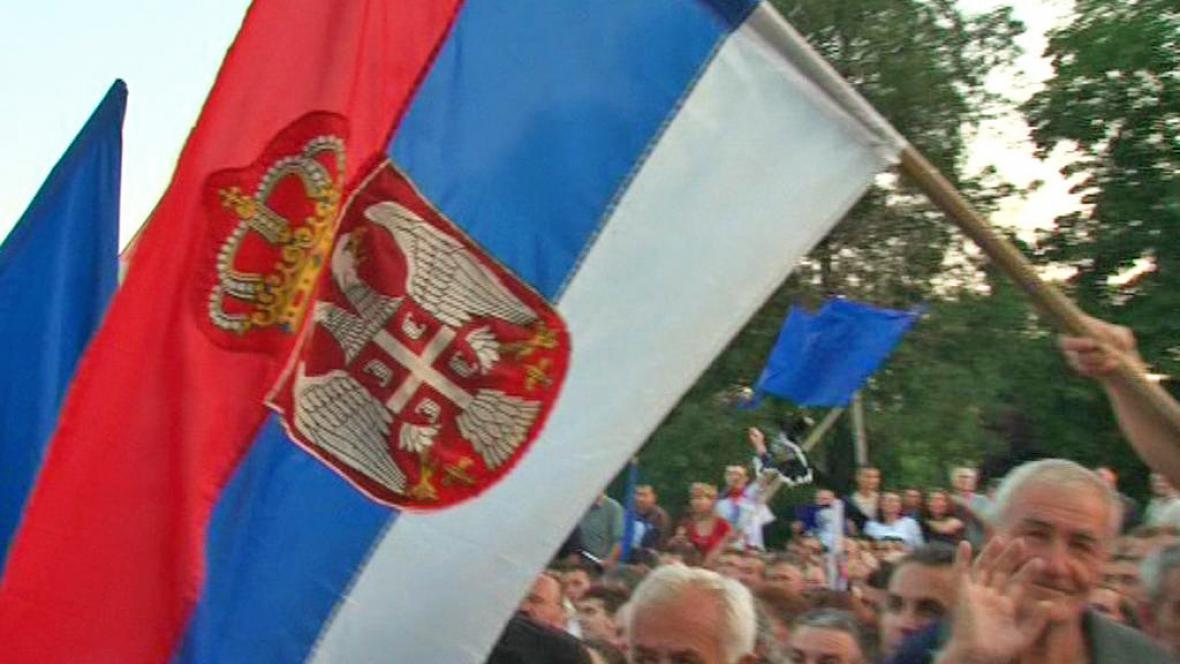 Demonstrace na podporu Ratka Mladiče