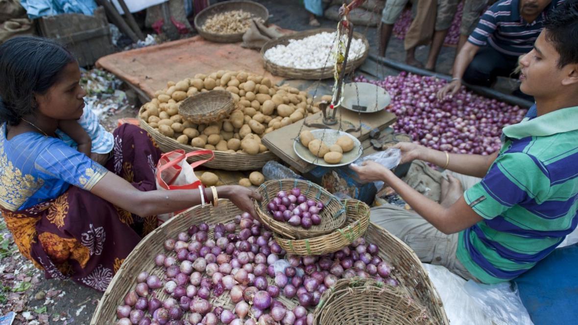 Zeleninový trh v indické Kalkatě