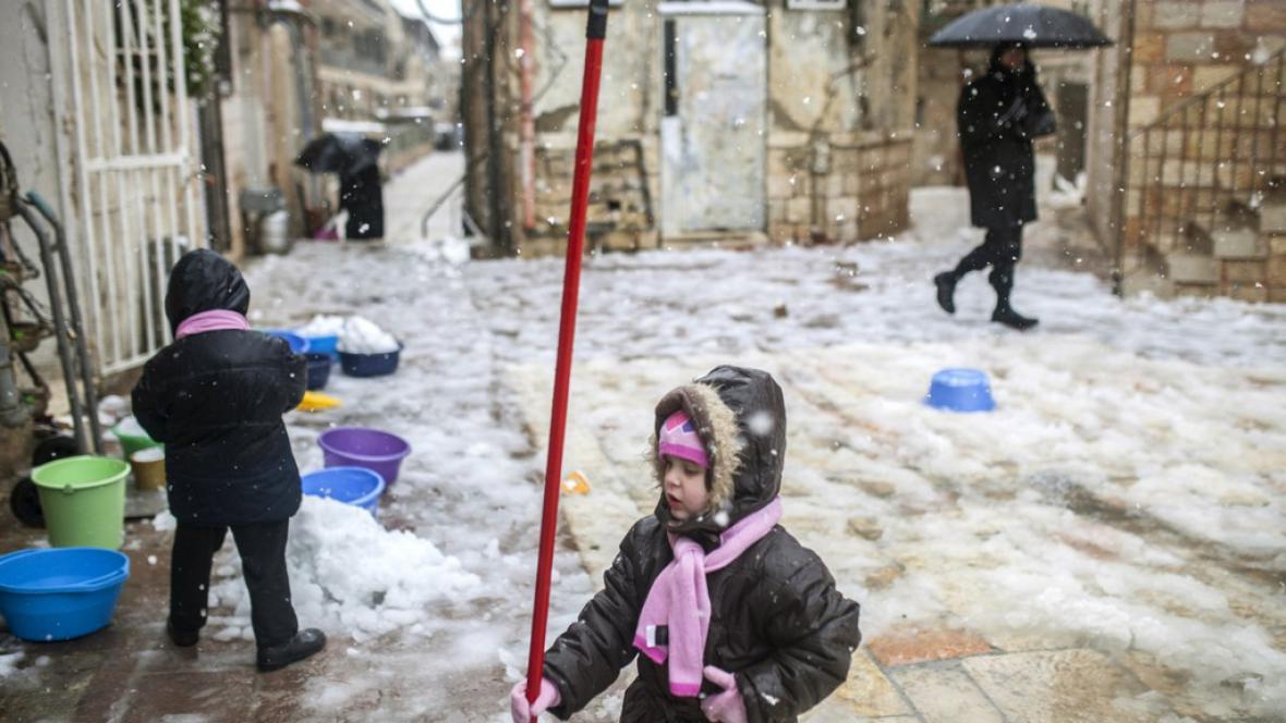 Sněhová kalamita v Izraeli
