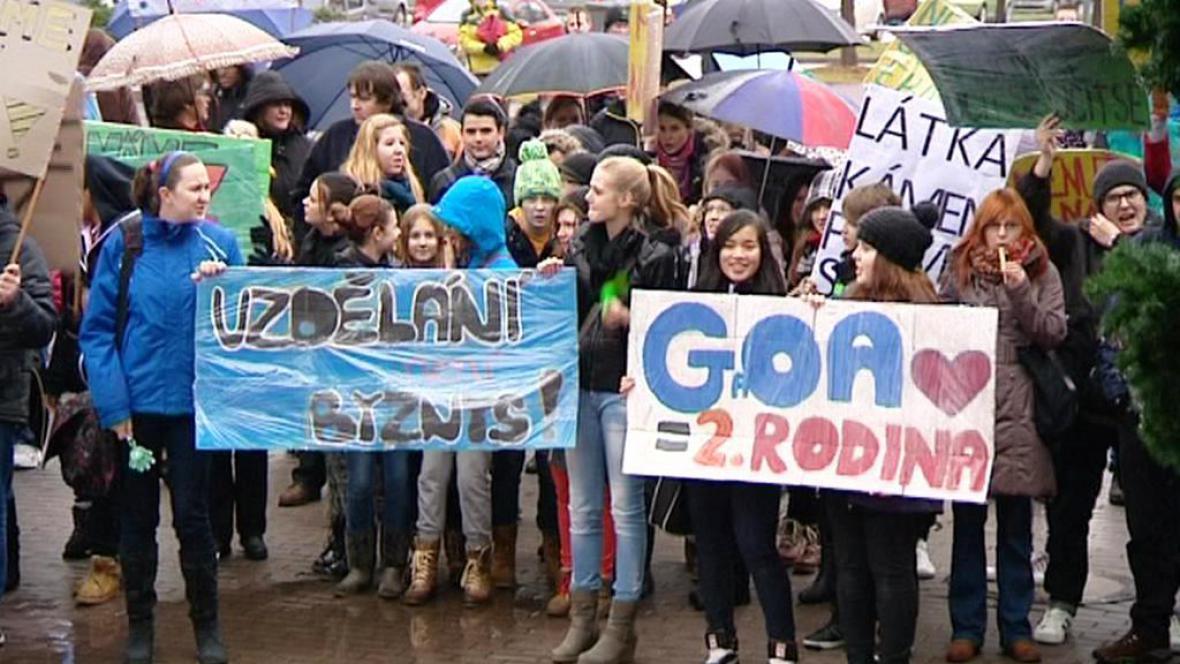 Studentské protesty v Karlových Varech