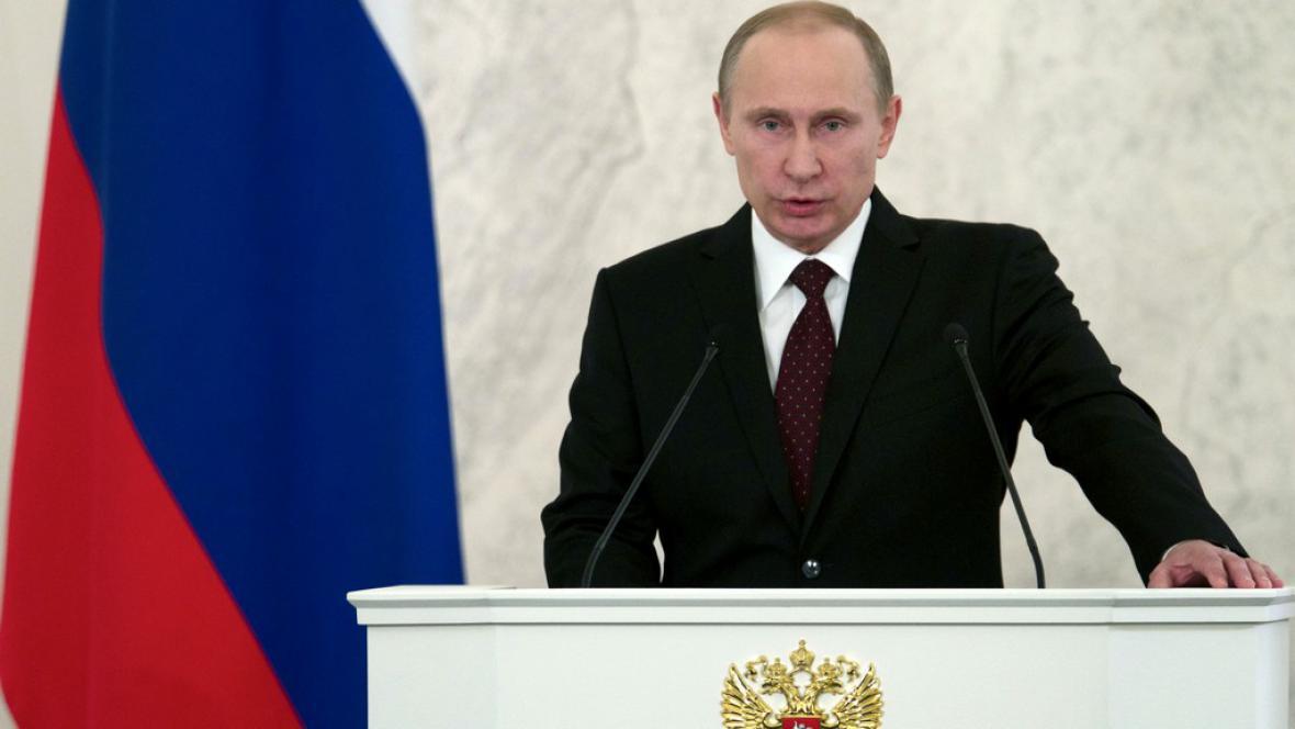 Putin při projevu o stavu země