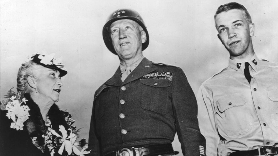 Generál Patton s manželkou a se synem