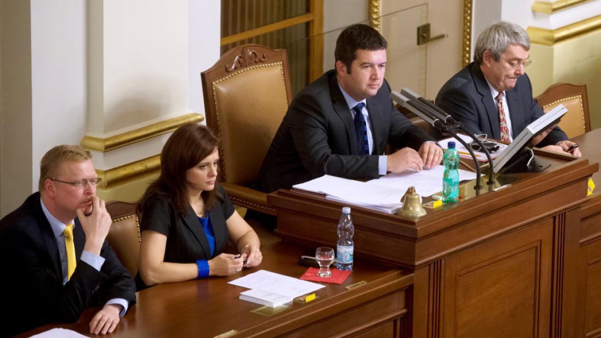 Nově zvolené vedení Poslanecké sněmovny