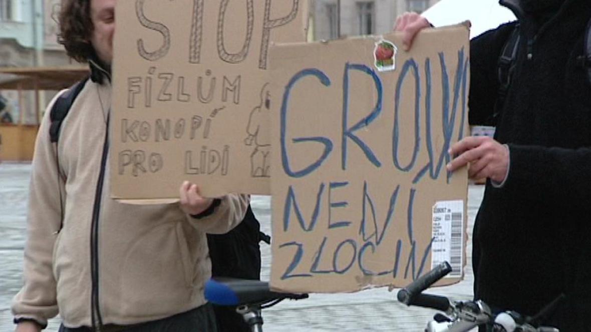 Protest proti zátahům na growshopy