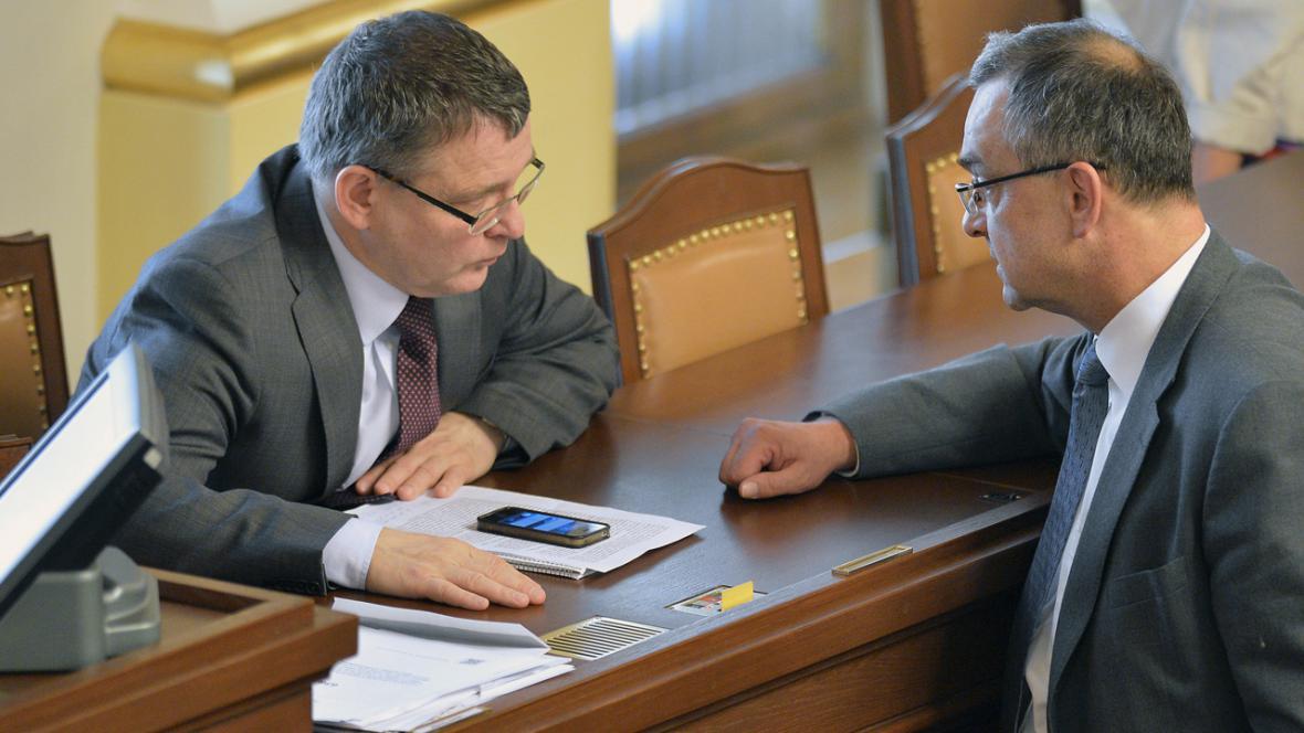 Lubomír Zaorálek a Miroslav Kalousek