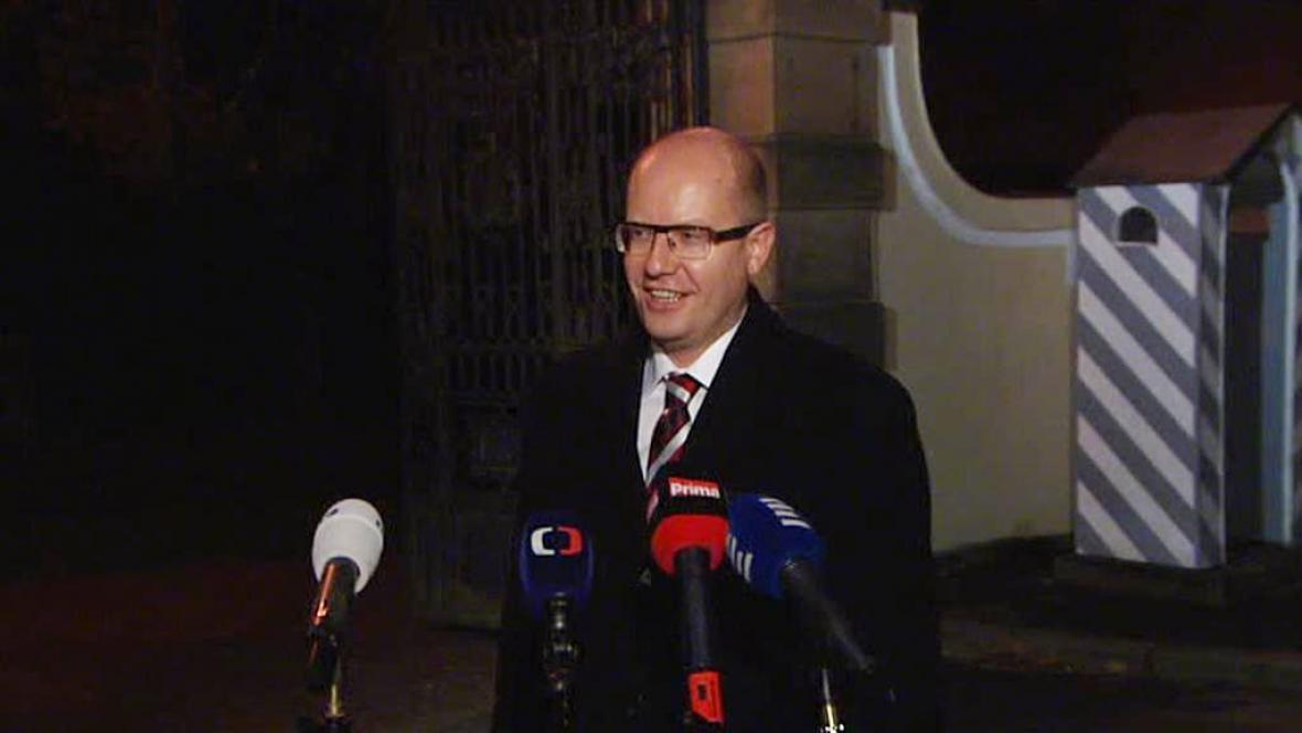 Bohuslav Sobotka po setkání s prezidentem