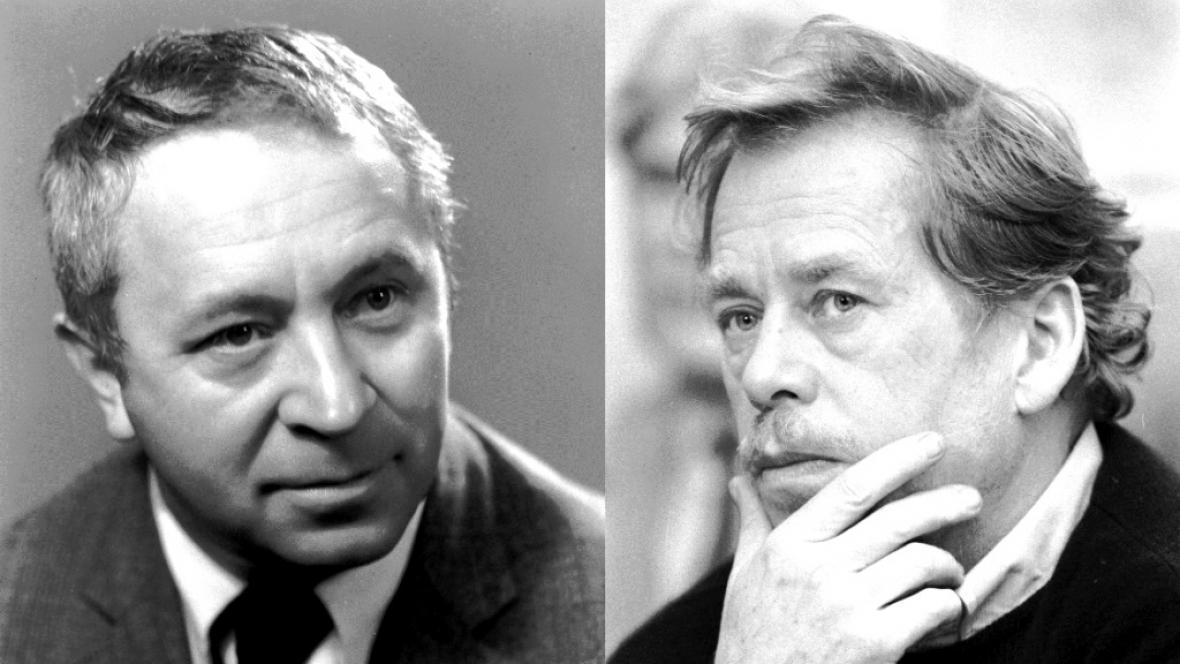 Miroslav Horníček a Václav Havel