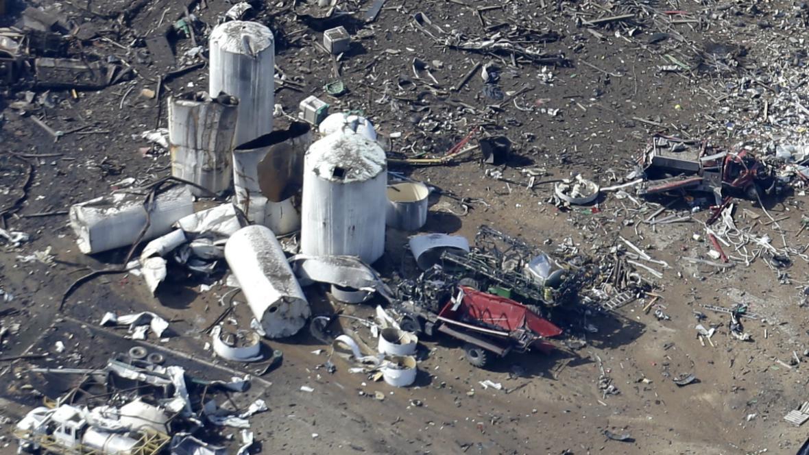 Následky exploze ve Westu