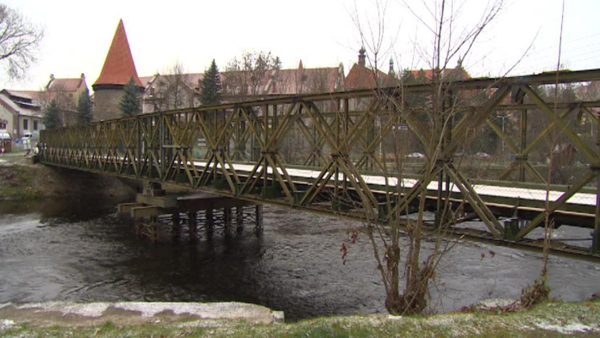 Provizorní most v Českém Krumlově