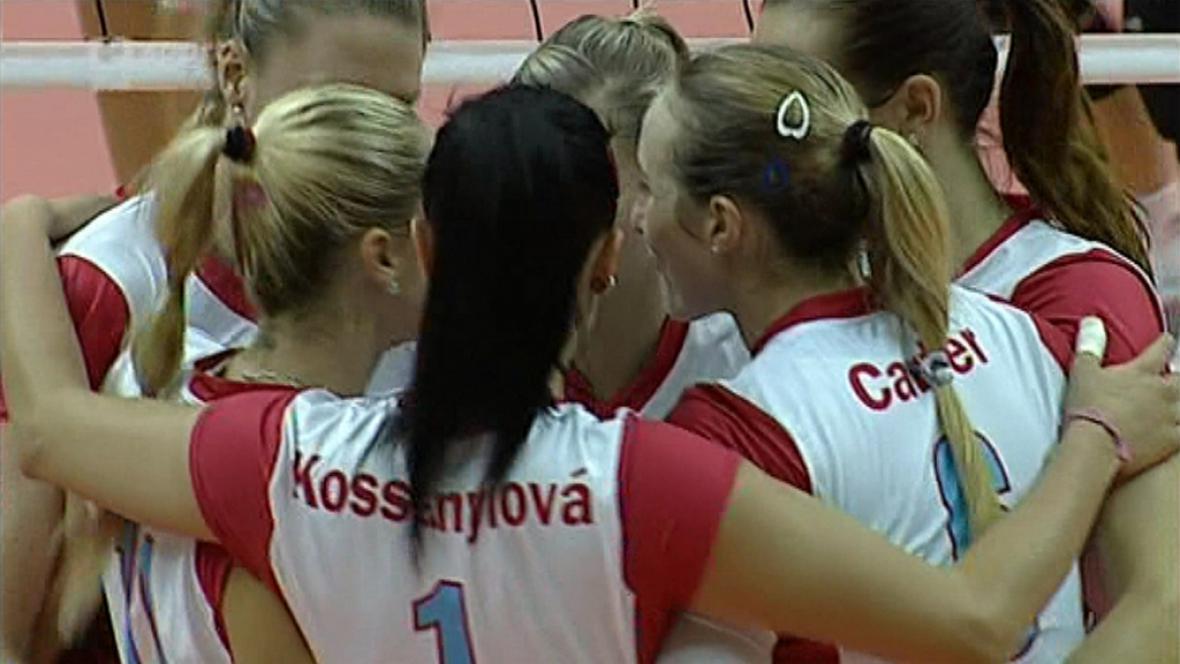 Radost volejbalistek Prostějova