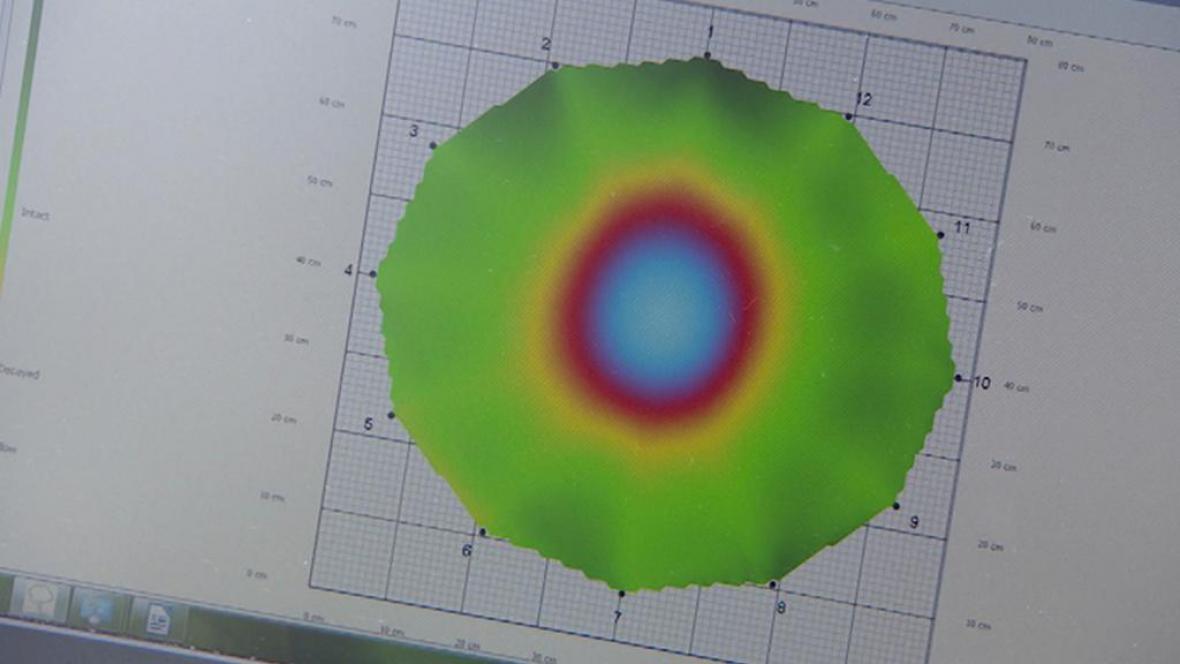 Výsledky měření akustickým tomografem
