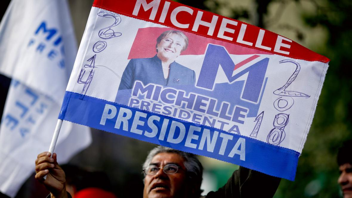 Podpora Michelle Bacheletové ve volbách