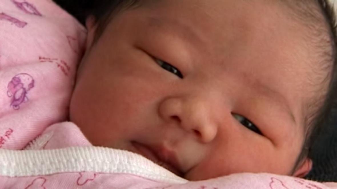 Čínský novorozenec