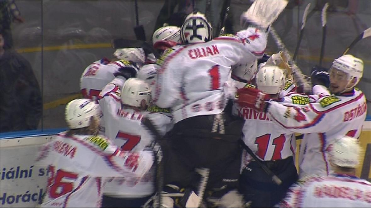 Radost hokejistů Třebíče