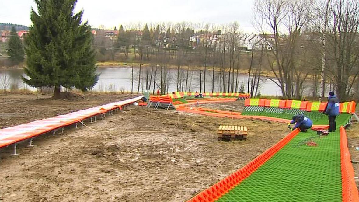 Stavba nového skiareálu
