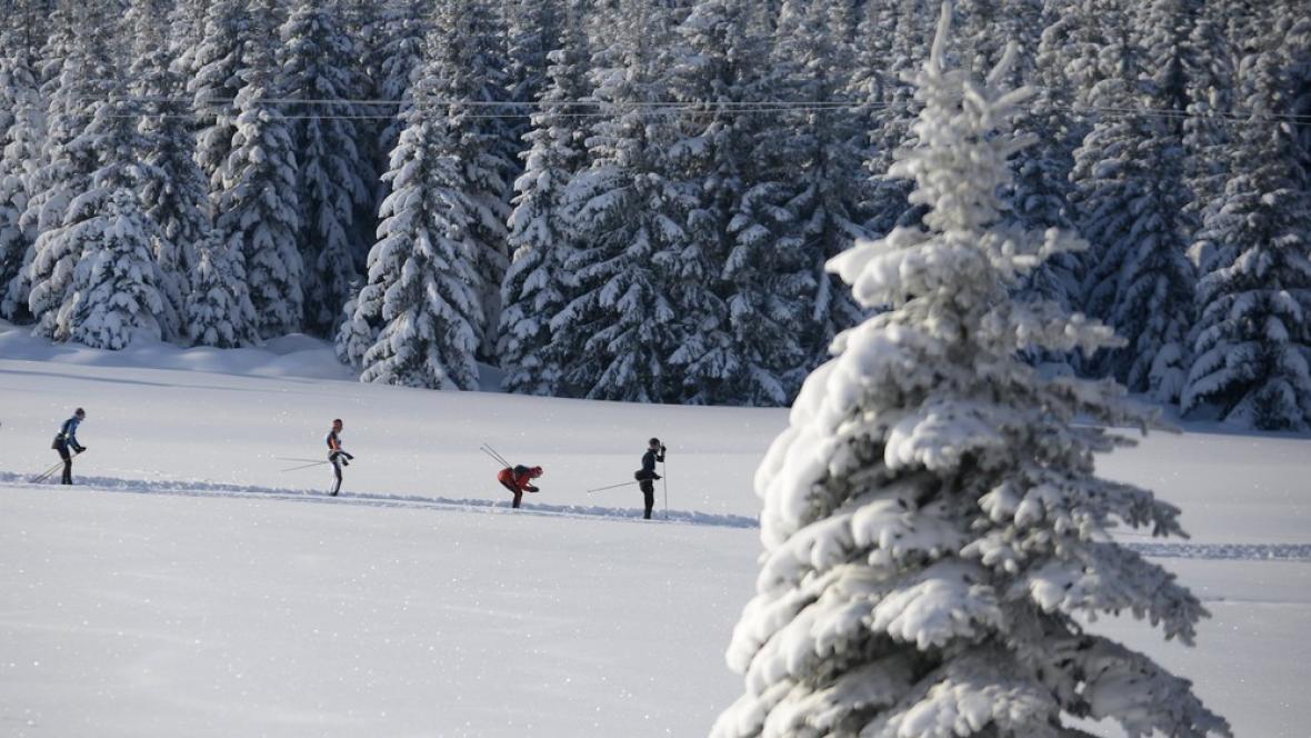 Běžkaři v Jizerských horách