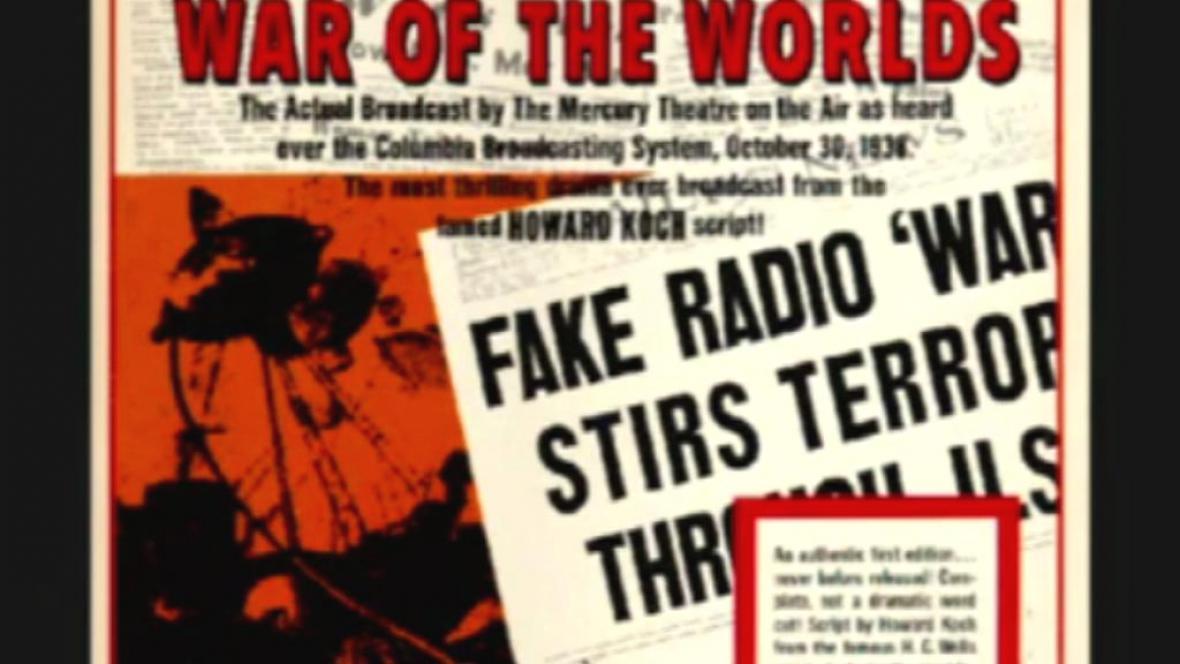 Válka světů - první celosvětově známá mystifikace v médiích