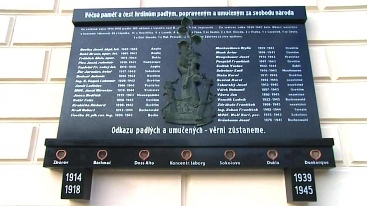 Pamětní deska v Lipníku nad Bečvou