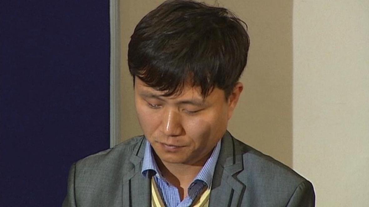 Uprchlý severokorejský vězeň Song Džu Kim