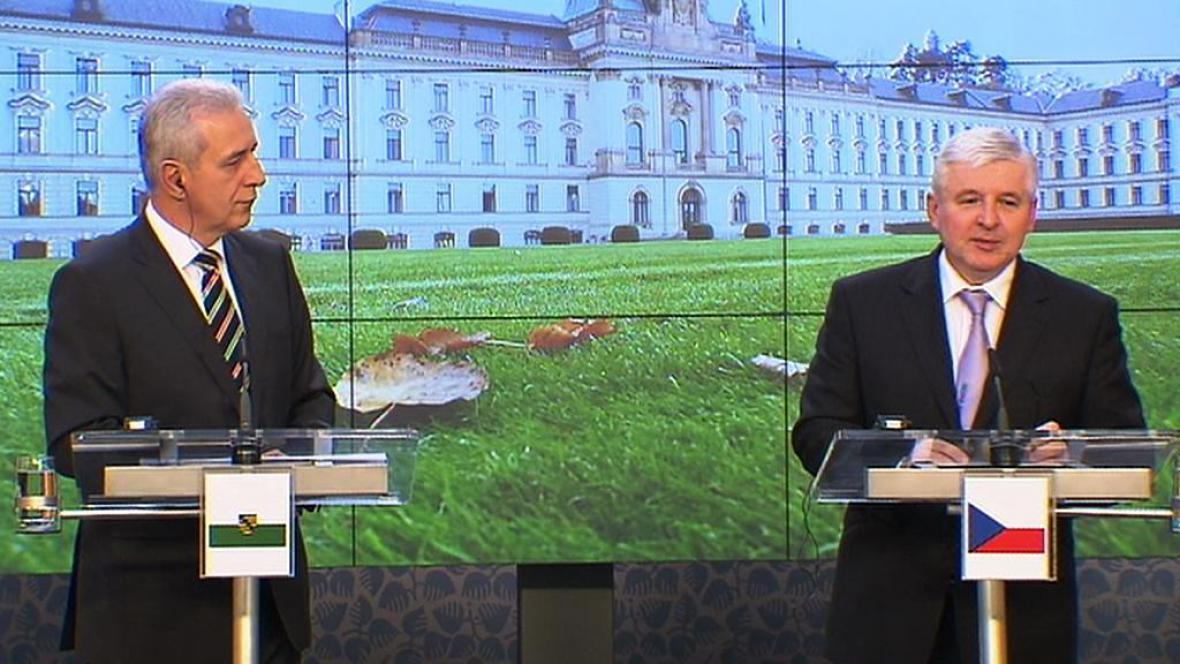 Stanislaw Tillich a Jiří Rusnok
