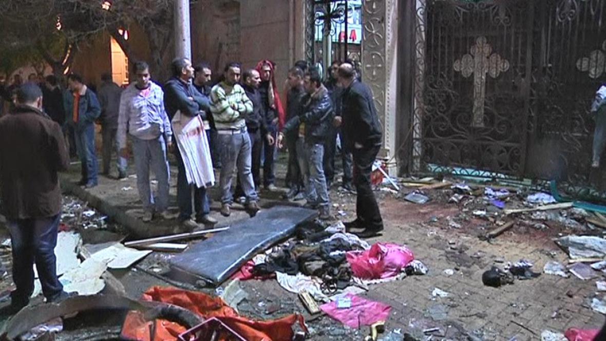 Útok na koptské křesťany v Egyptě