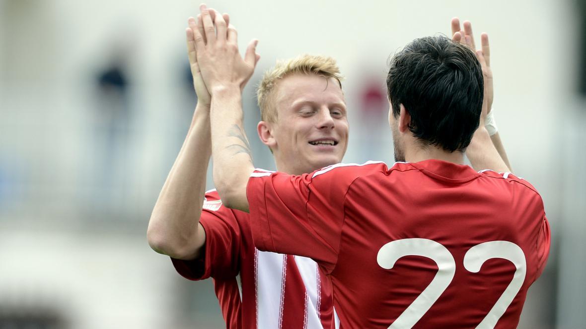 Radost fotbalistů Viktorie Žižkov