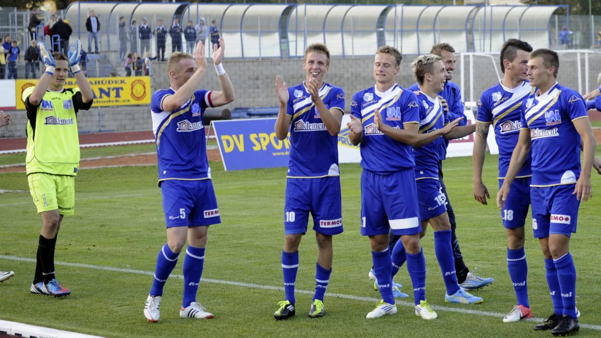 Radost fotbalistů Ústí nad Labem