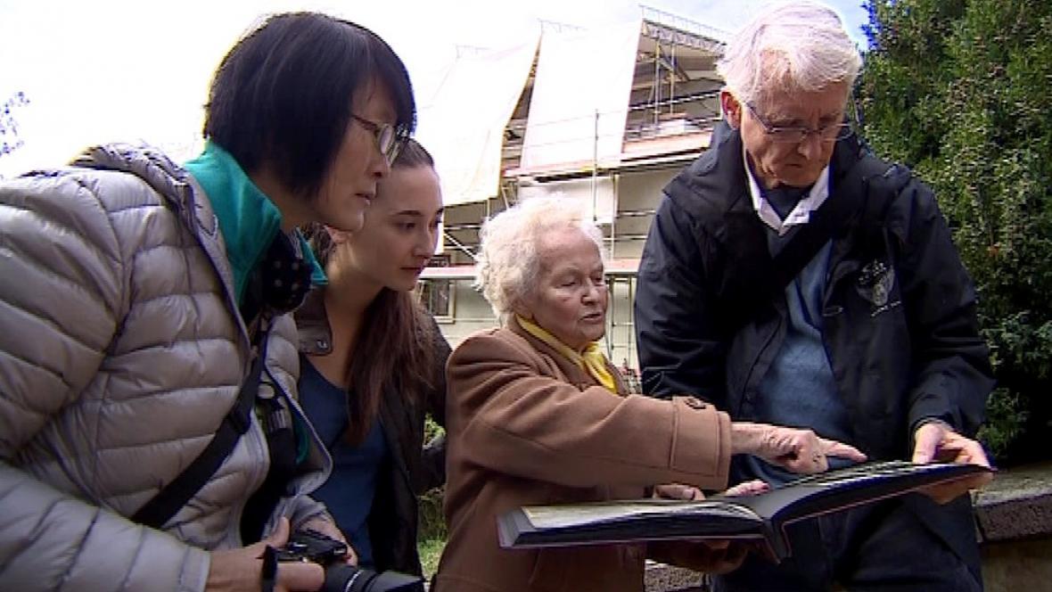 Potomci rodiny Stiassných na návštěvě v Brně