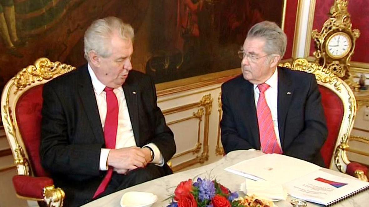 Miloš Zeman a Heinz Fischer