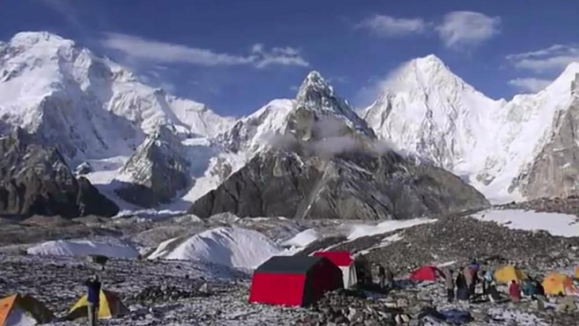 Tábor v Himálájích