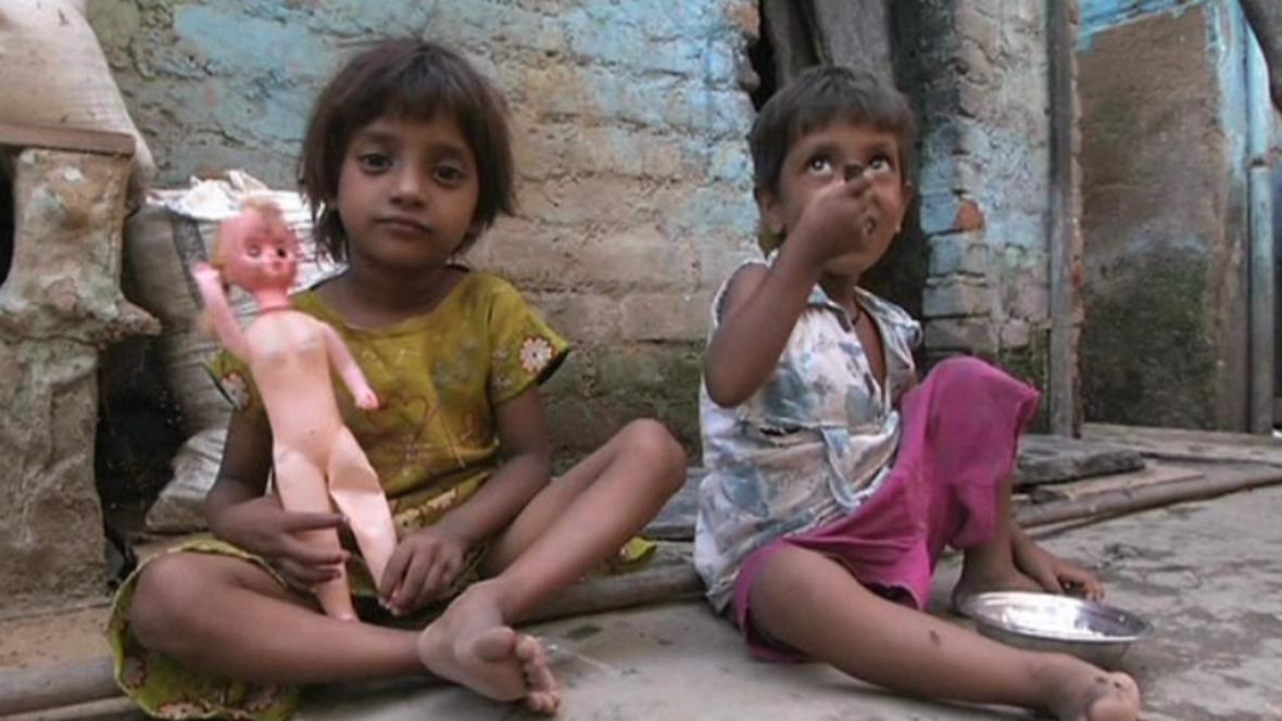 Indické děti bez domova
