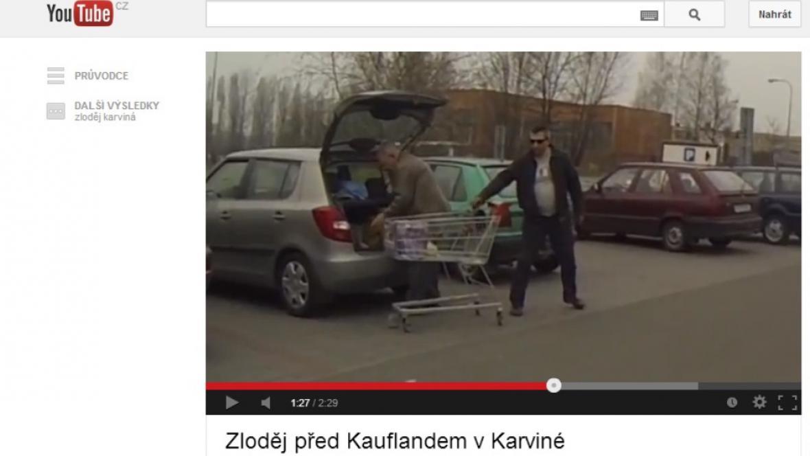Video se zlodějem