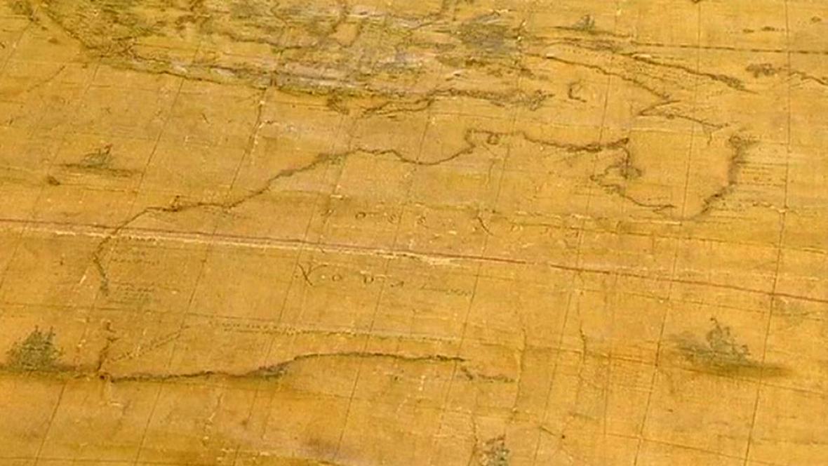 Unikátní australská mapa z roku 1663