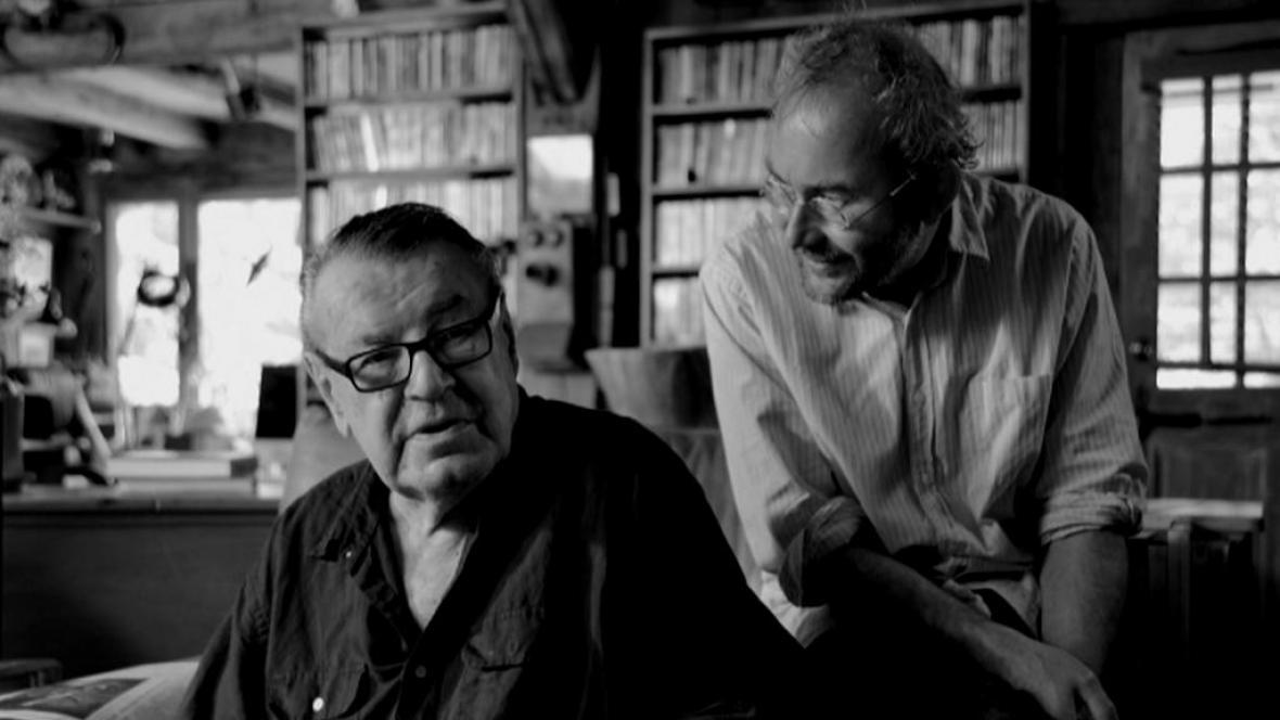 Miloš Forman a Bohdan Sláma na fotografii Davida Čálka