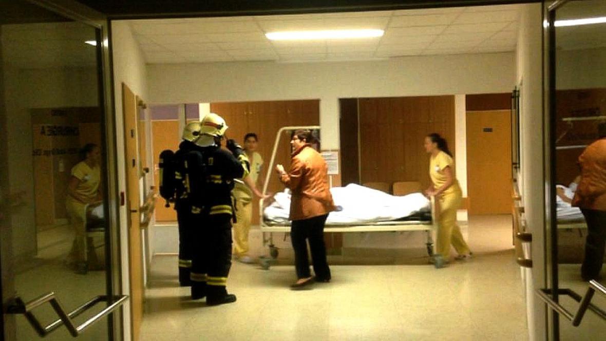 Požár v prostějovské nemocnici