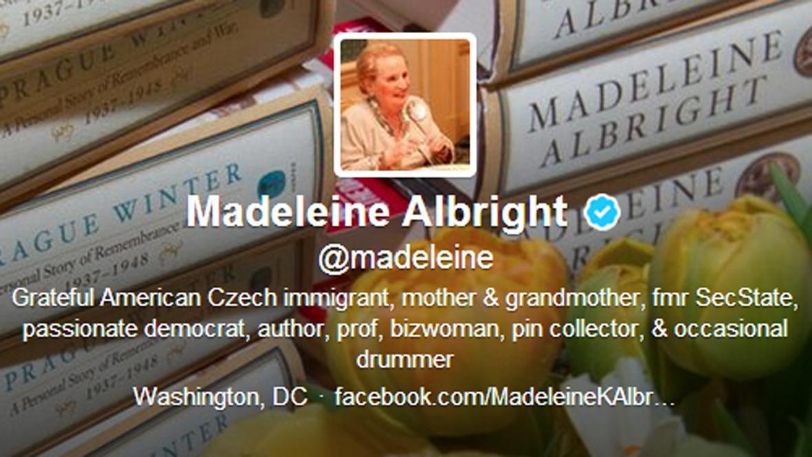 Madeleine Albrightová na Twitteru