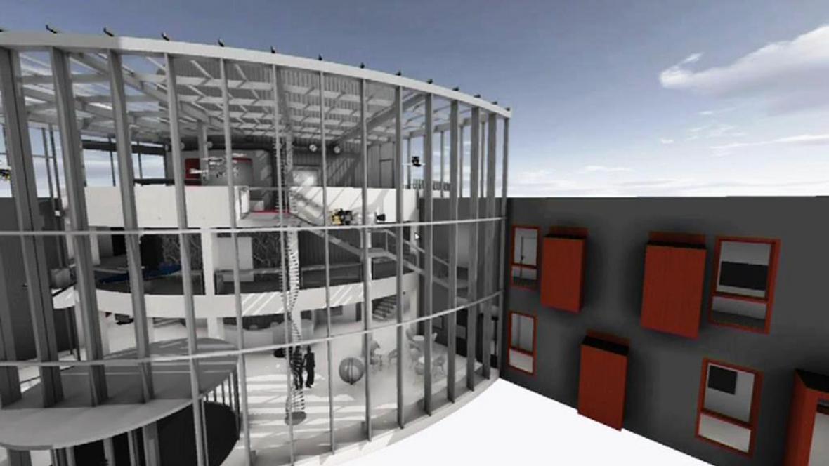 Vizualizace rekonstruované hvězdárny
