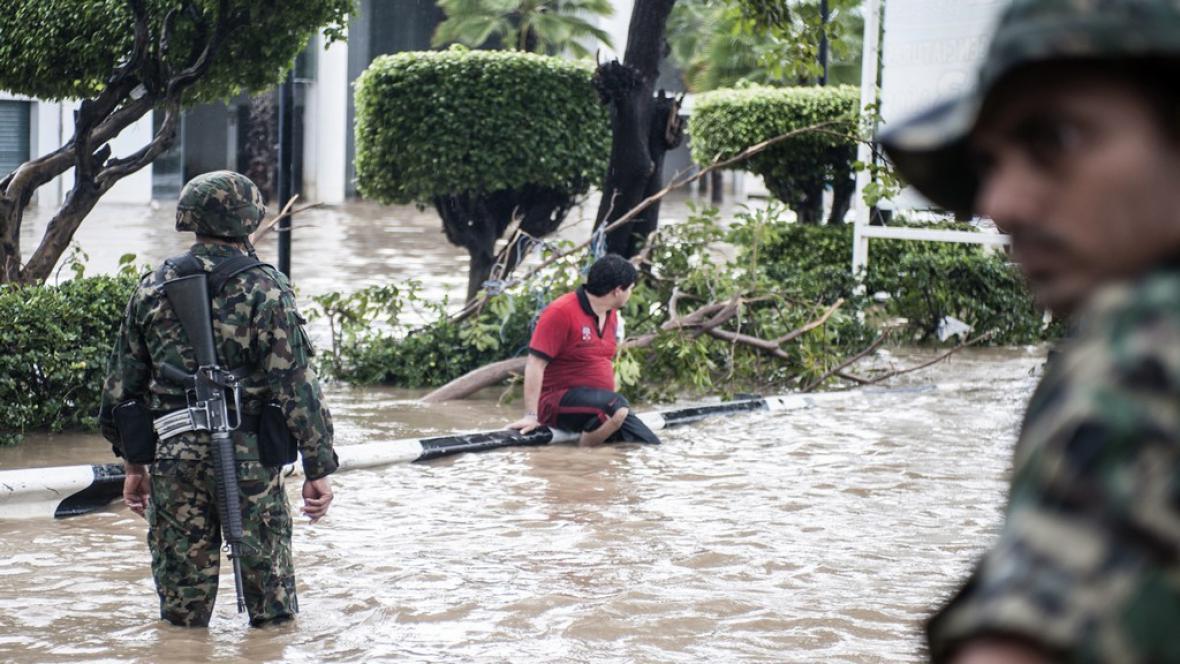 Povodně v Mexiku