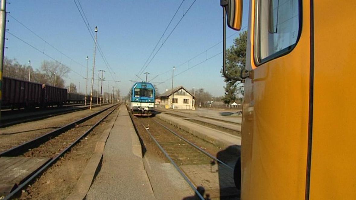 Vlaky na jedné koleji