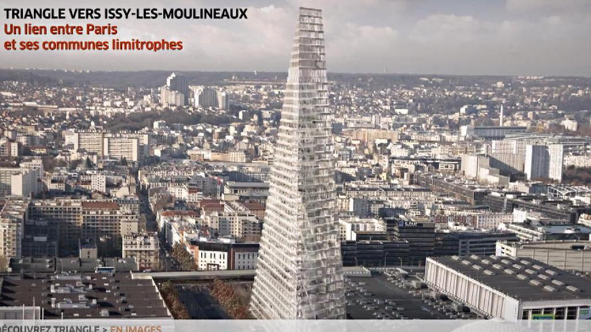 Nový pařížský mrakodrap ve tvaru pyramidy